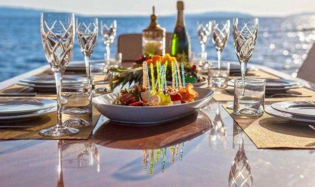 Dining Aboard a Luxury Yacht